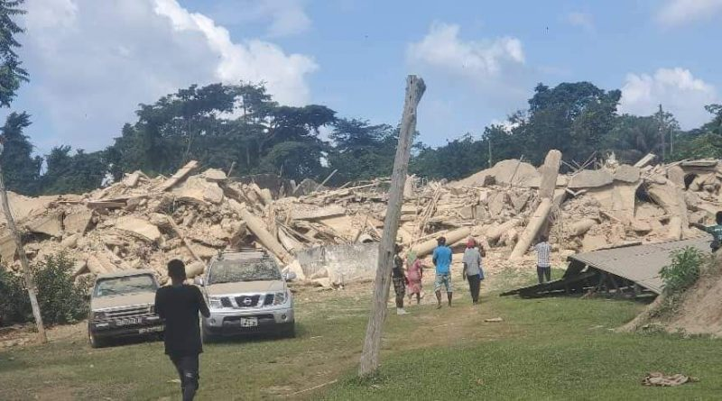 3-Storey Church Building Collapses At Akyem Batabi, Traps Over 60 Worshippers