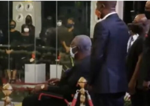 Ex-President Kufuor Attends Rawlings' Funeral In Wheelchair–Check Out His Reason
