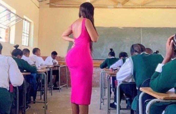 Female Teacher With Huge Butt0cks Storm Class With Hot Dress–Photos