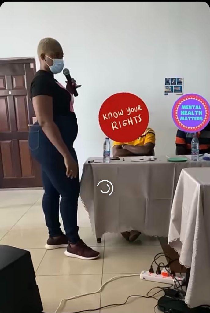 Abena Korkor pregnant-- baby bump