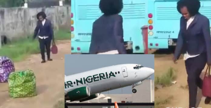 Shocking! Lady Goes Mad Shortly After She Got To The Airport Ready To Travel (VIDEO)